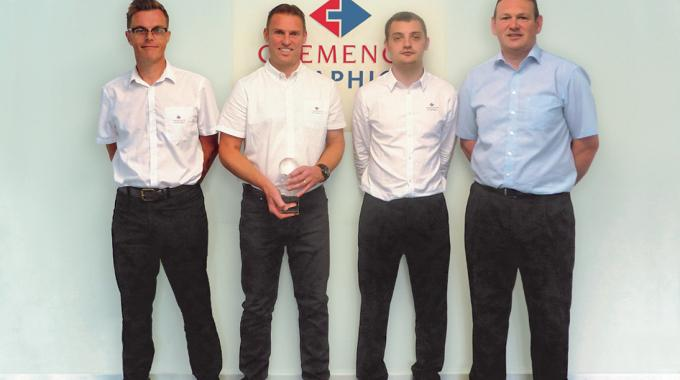 The Chemece Graphics team from the group's Alford, UK facility