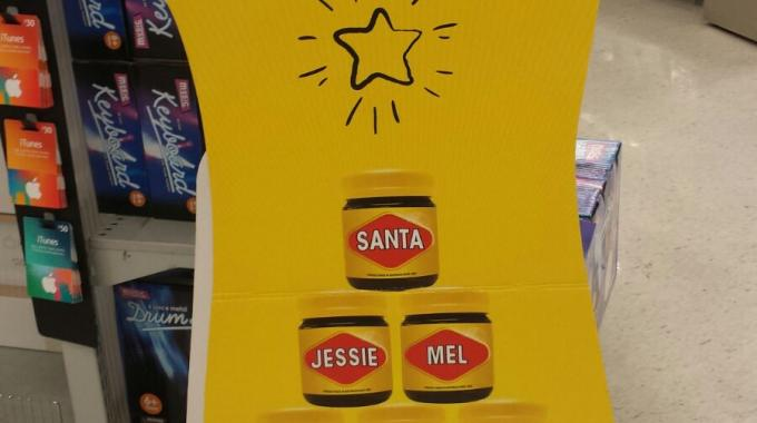 Kmart Australia is offering personalized labels for Vegemite and Nutella, exclusively in-store