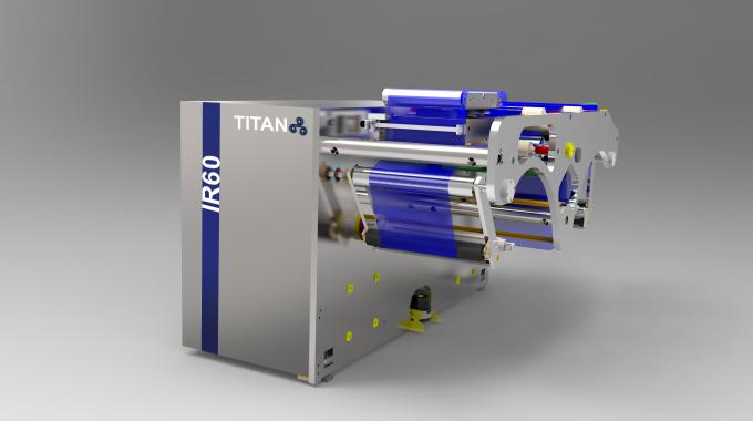 IR60, and IR135, IR165 and RR165, are designed to meet the market requirement for different web widths and complement the range of Titan slitter rewinder machines