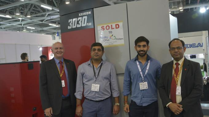 Pictured L-R: Bent Serritslev, Xeikon managing director, Asia Pacific; Rajeev Chhatwal, partner, Kwality Offset Printers India; Krish Chhatwal, partner, Kwality Offset Printers India; and Neeraj Jagga, Xeikon's sales channel manager, Asia Pacific