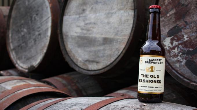 Hot foil stamping has also been used on the labels for 'The Old Fashioned' concept beer