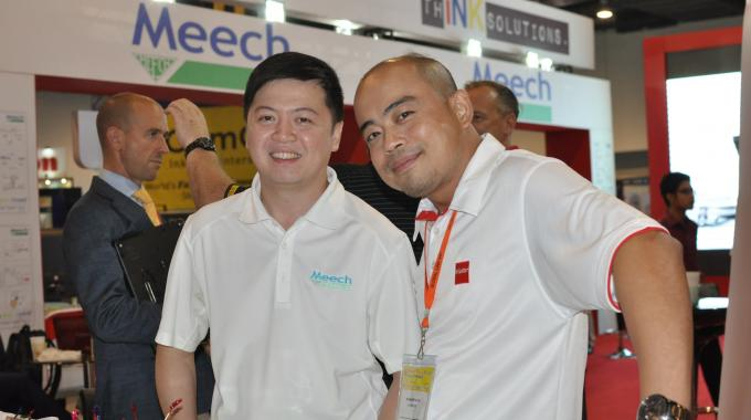 Angelo Santos, pictured with ASA Color CEO Gene Arbatin, will head up the sales team for Vetaphone in The Philippines