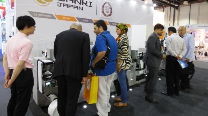 Japan's Sanki was busy throughout Gulf Print & Pack 2015
