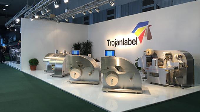 Trojanlabel had four TrojanTwo digital presses running on its stand at Labelexpo Europe 2015