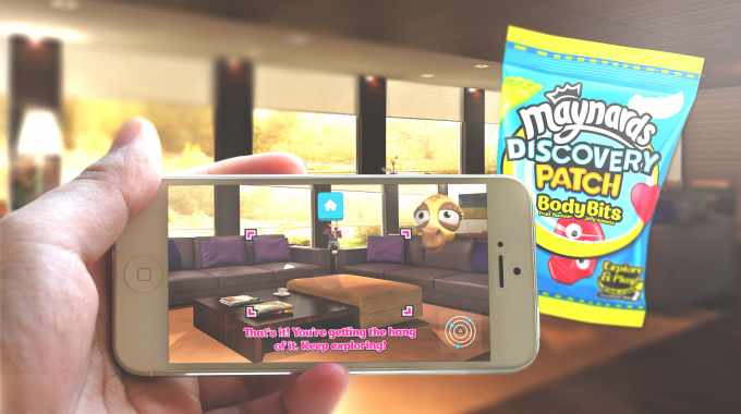 UK confectionery brand Maynards launched an AR campaign on its Discovery Patch product packaging to add an 'immersive discovery and learning experience'
