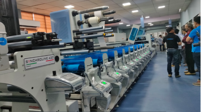 Lombardi Synchroline 430 installed at Total Print Solution in Mumbai