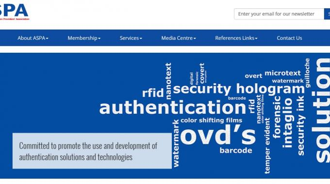Authentication Solution Providers' Association has developed a new website, at www.aspaglobal.com, which includes educational material on various types of authentication technology, tips on selecting the most relevant and effective authentication solution amongst other informative material