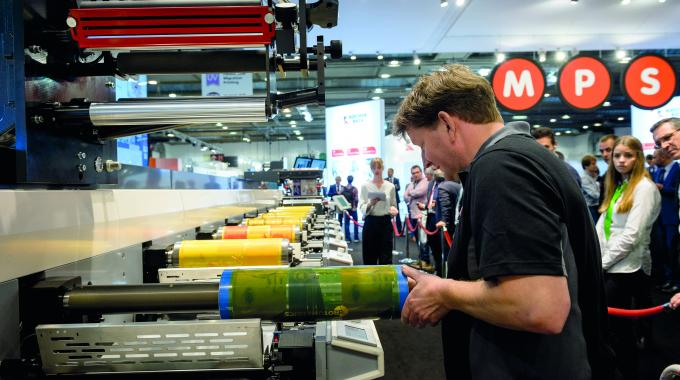 At Labelexpo Europe 2017, an MPS EF press was shown with Talk To Me connectivity