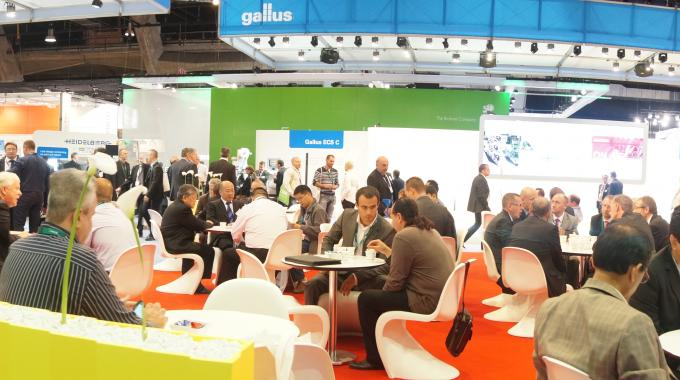 Packed with vistors, Gallus stand at Labelexpo Europe 2013