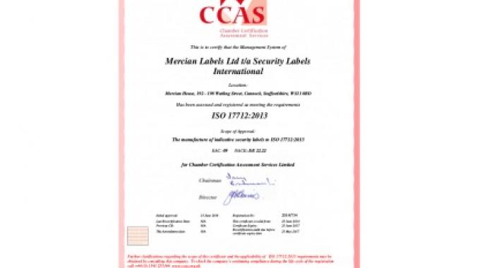 The accreditation was only achieved following an external inspection by independent auditors who tested conformance of the products and business processes to the new standard as part of the company's existing UKAS accredited ISO9001:2008 quality assurance certification