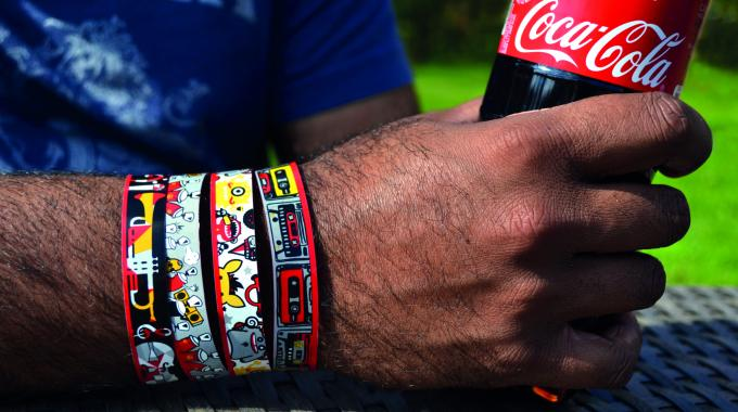 The multi-colored wristbands also have an after-life, tapping into the trend among Romanian teens to collect festival wristbands as fashionable souvenirs