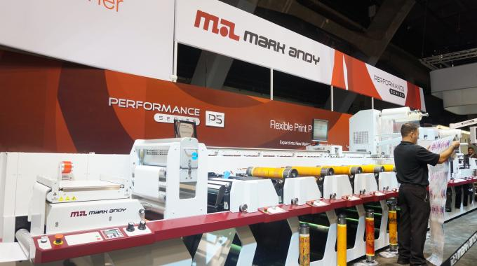 Mark Andy P5 exhibited at the show floor during Labelexpo Europe 2013
