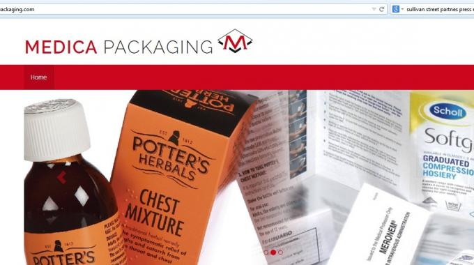 Medica Packaging has introduced a temporary website at www.medicapackaging.com after its separation from Benson Group