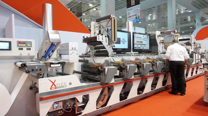 Omet XFlex X4 at Labelexpo Europe 2014