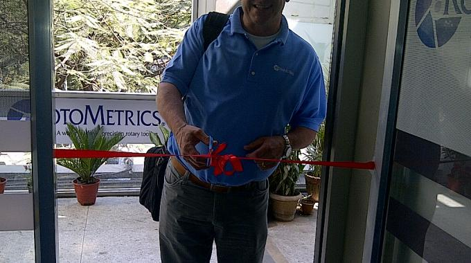 Shaun Pullen, general manager, Asia at RotoMetrics, opens the new office in Mumbai