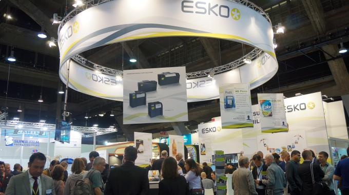 Visitors at the Esko stand during Labelexpo Europe 2013