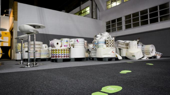 Waste as collected at Labelexpo Europe 2017