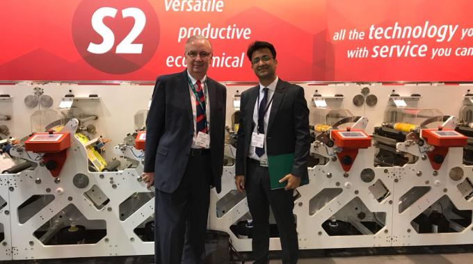 Francisco Faguirre Matos from TRI in Central America (left) is the new Multitec agent appointed at Labelexpo Europe 2017