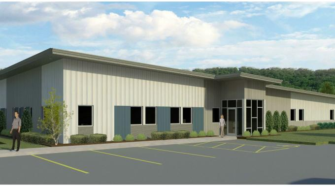 A render of how the new Badger Tag & Label building will look