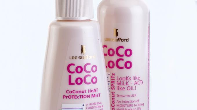 CoCo LoCo bottles from Lee Stafford, foiled by Olympus using foils from API