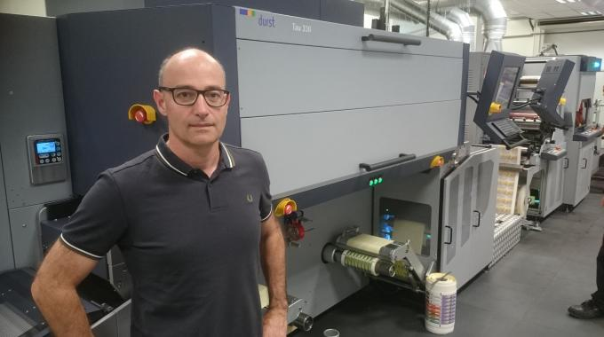 Adesa has invested in Europe's first Durst Tau 330 and in-line LFS 330 laser finishing system, and is winning work on the back of the investment according to company president Brice Carugati