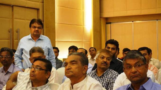 Engaged audience and question answer round during the roadshow in Ahmedabad