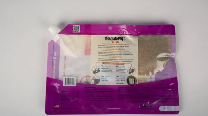 The company's Penta5 USA division produced graphics on the pouch itself that teach consumers how to use MosquitoPaQ