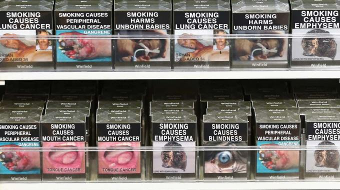 Australia was the first country in the world to introduce plain packaging in 2012 - Pic credit: Cameron Spencer/Getty Images