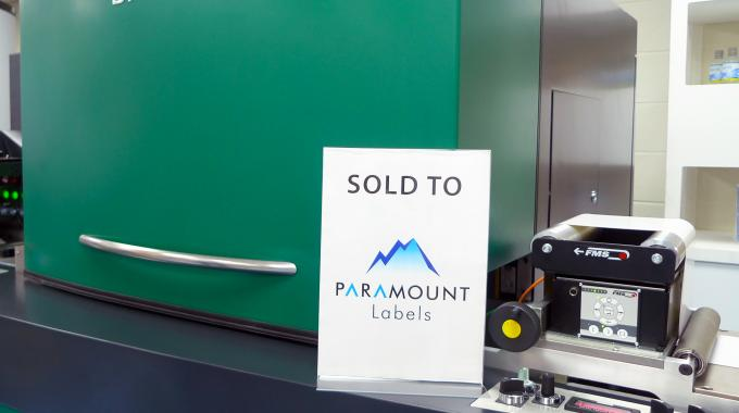 The installation, scheduled for mid-November, will complement Paramount Labels' existing digital press offering
