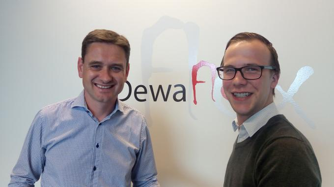 Pieter Dewaele (left), DewaFlex owner and director, and Niels Soenen