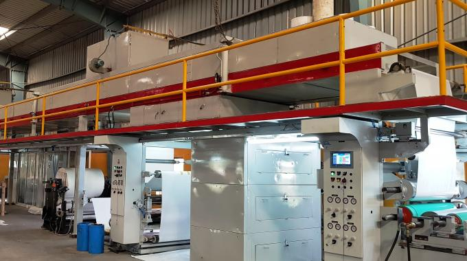 The new silicone coating line installed at the Stic-on Papers factory