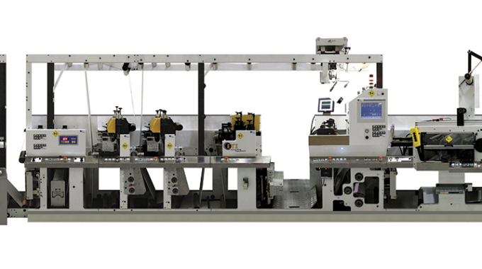 Cohesio technology allows for the manufacture of pressure-sensitive labels in a single in-line process
