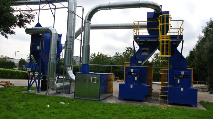 Filtered air is returned to the production hall and an acoustic package has been implemented