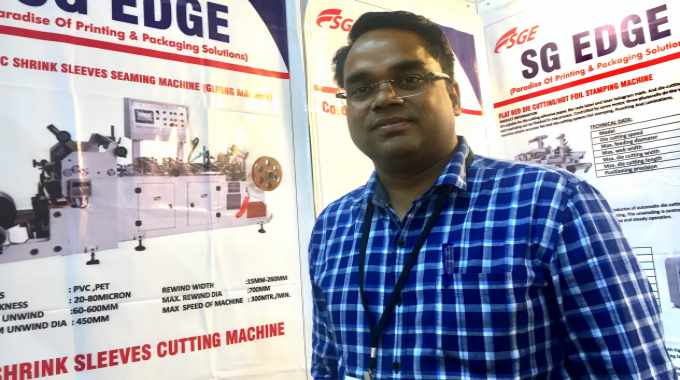 Santosh Kumar, CEO at S G Edge talks about the new flexo press