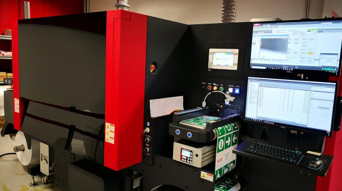 A PX3000 is on show at Xeikon Café in Lier, Belgium