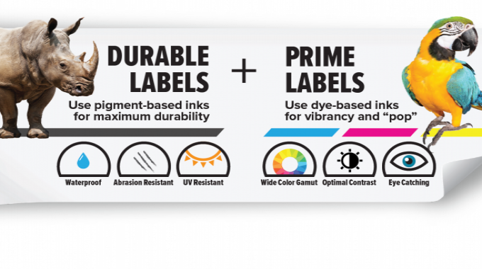 The ability to use both pigment and dye inks provides companies the flexibility to produce high-quality, low-cost labels for almost any application
