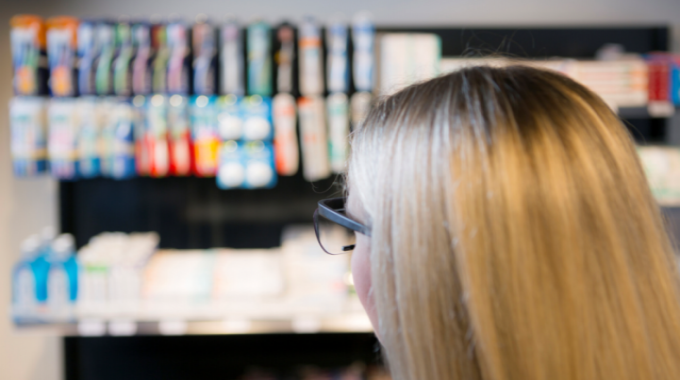 The person being tested can be observed in the realistically simulated retail environment of the Impact Centre