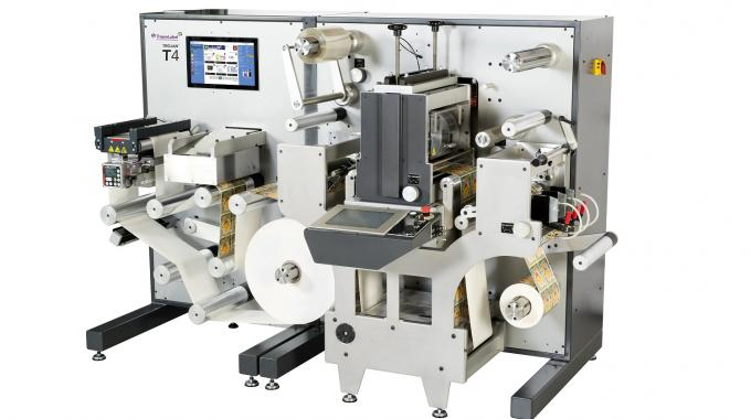 Trojan T4 is a compact all-in-one professional label press with in-line finishing developed by TrojanLabel, an AstroNova company