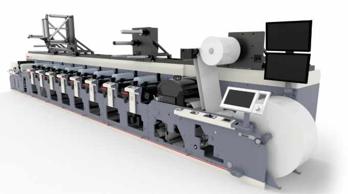 An MPS EF 430 will be producing shrink sleeves in the Automation Arena at Labelexpo Americas 2018