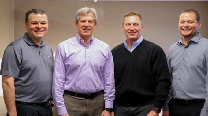(L to R): Todd Roach (co-owner), Charlie Westling (chairman of board), Scott Hieptas (CEO), Eric Roach (co-owner)