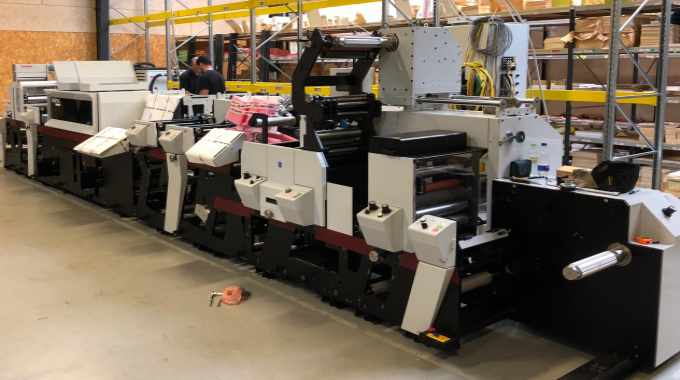 The new Mark Andy Digital Series in the process of being installed at FlexoPrint's plant in Randers