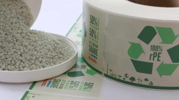 Herma releases PE film made from recycled material