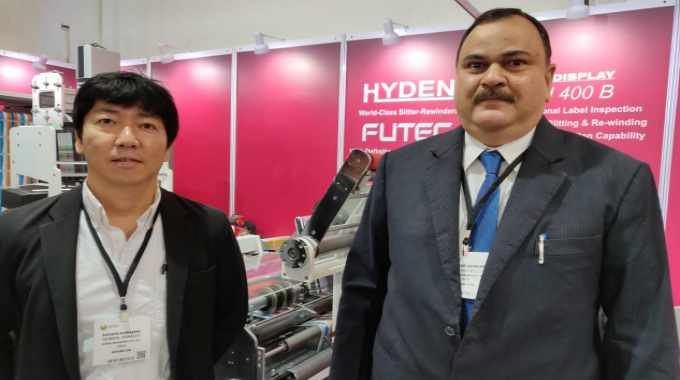 Futec and Hyden representatives at Labelexpo India 2018