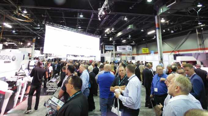 The Mark Andy stand at Labelexpo Americas 2018