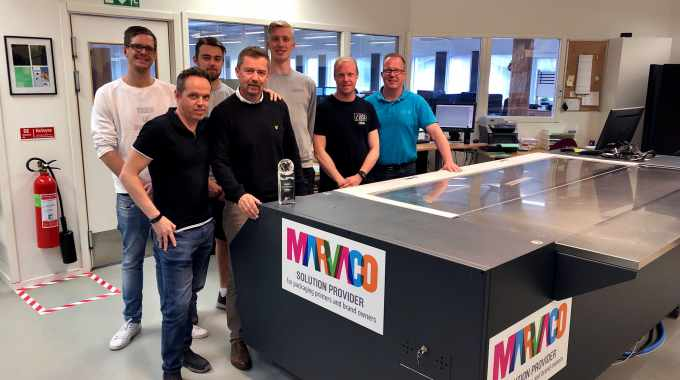 Marvaco plate team at the Sunne plant in Sweden