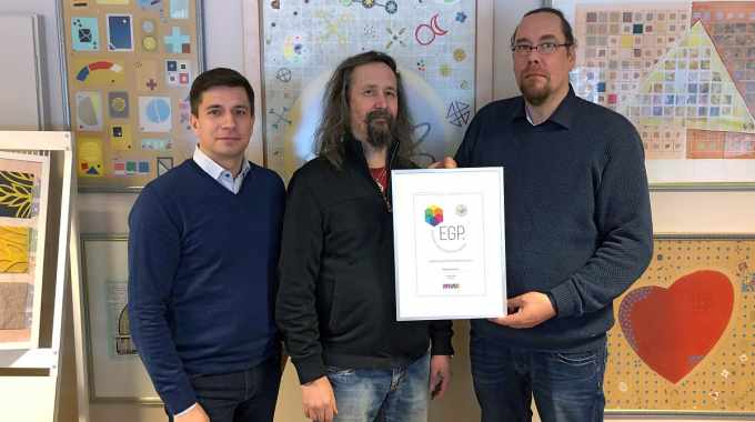 Peltolan awarded EGP partnership certificate