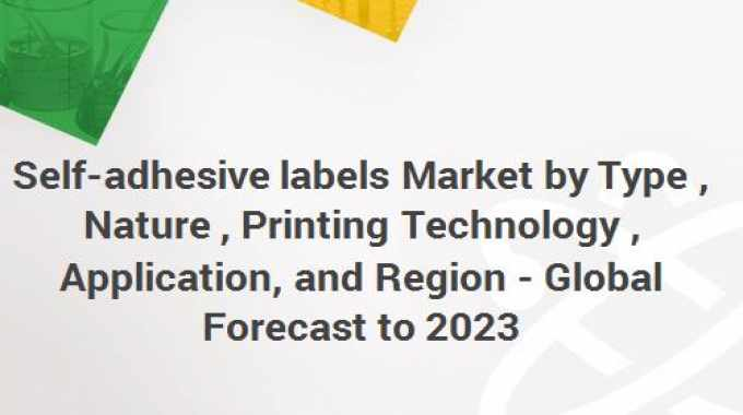 'Self-adhesive labels Market by Type (Release Liner, Linerless), Nature (Permanent, Removable, Repositionable), Printing Technology (Digital, Flexography, Lithography, Screen, Gravure), Application, and Region - Global Forecast to 2023' is a new report from Markets and Markets