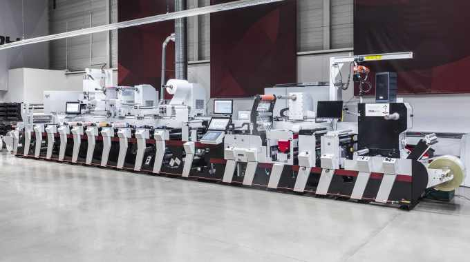 A Mark Andy Performance Series P5 is one of two Performance Series presses installed