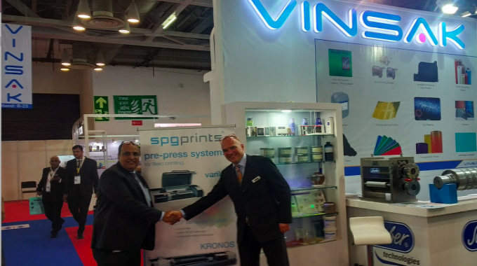 SPGPrints has appointed Vinsak as the new distributor for its flexo pre-press portfolio.