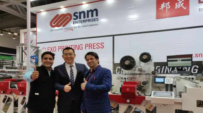 SnM Enterprises with its principal Bengraphics at Labelexpo India 2018